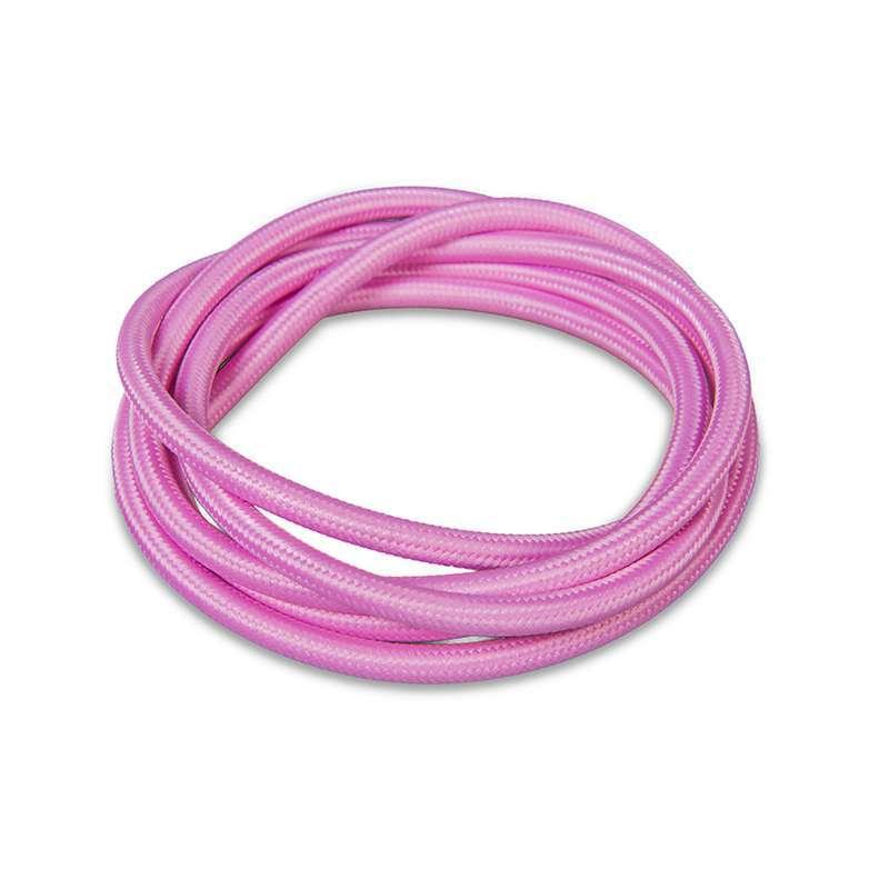 Stoffen kabel 1 meter roze | QAZQA | 8718881027567
