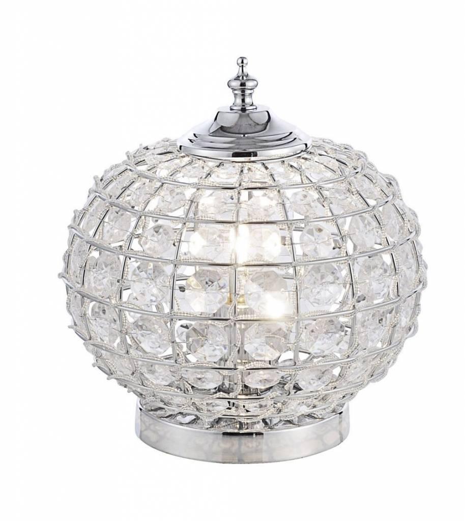 Tafellamp Bolly Chroom 25cm Ø      4043689918996