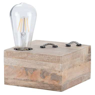 Tafellamp Jurre – bruin – 15x15x9 cm   8717807173609