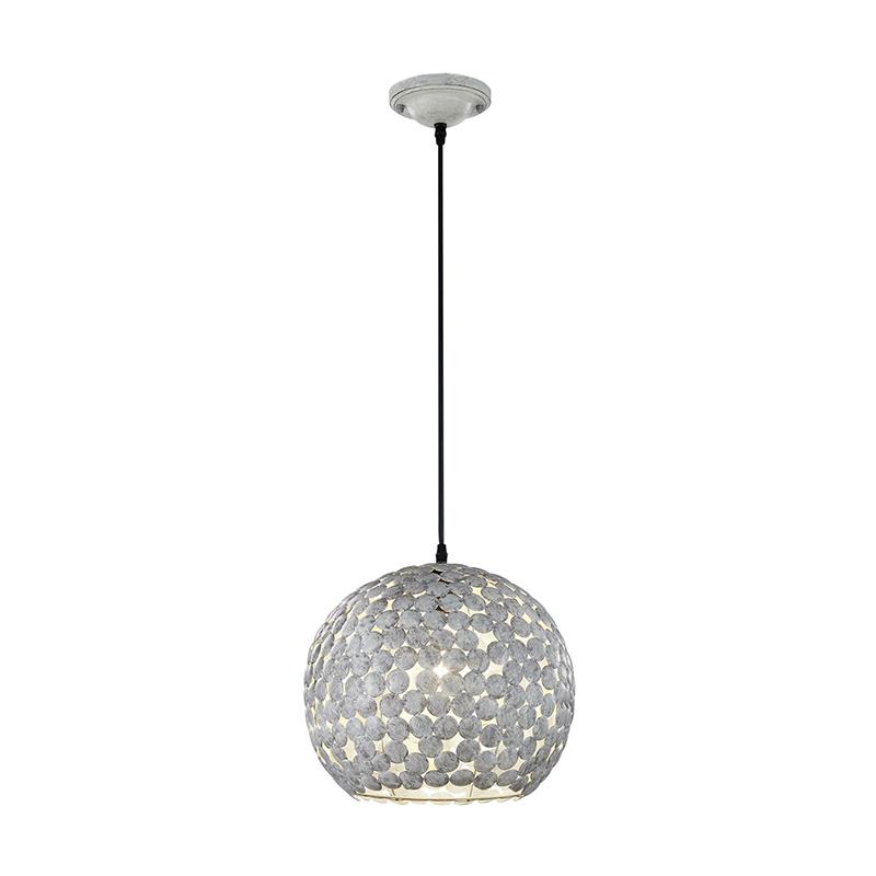 Vintage ronde hanglamp antiek grijs – Frieda | Trio Leuchten | 4017807292558