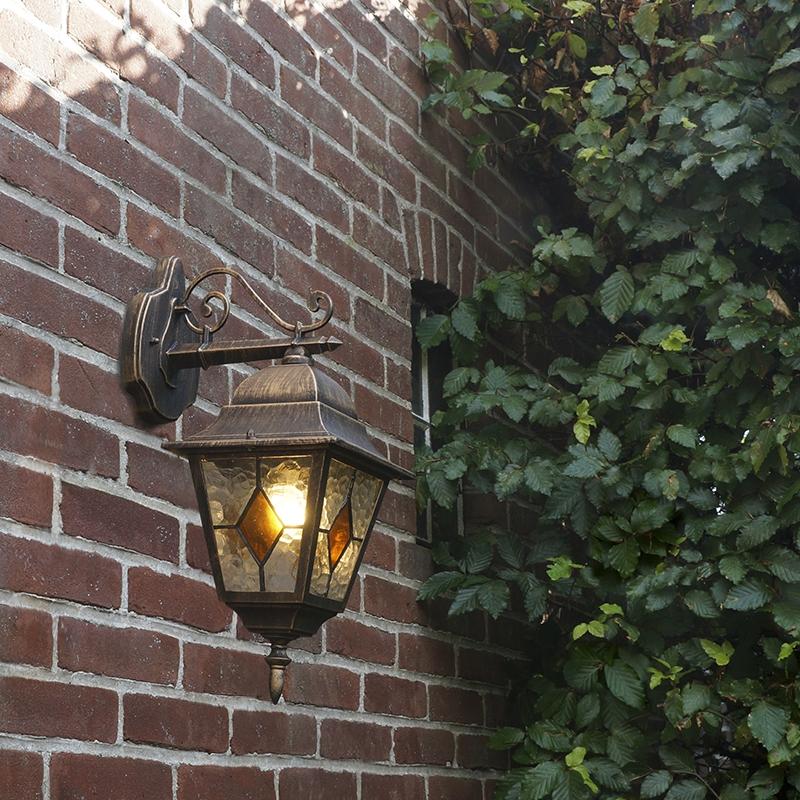 Wandlamp Antigua zwart met goud | QAZQA | 8718881054471