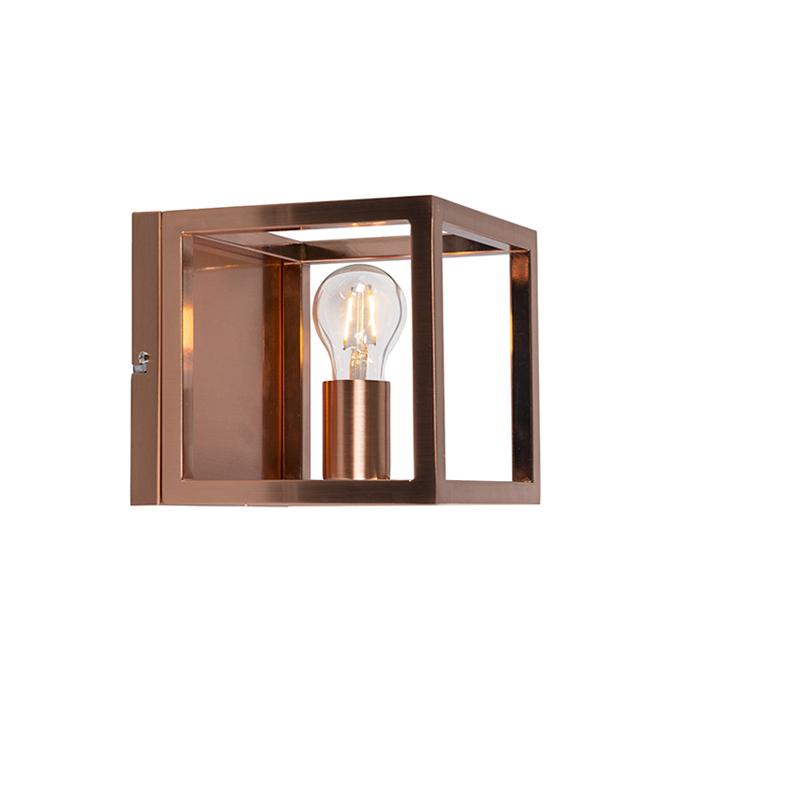 Wandlamp Cage 1 koper | QAZQA | 8718881051883