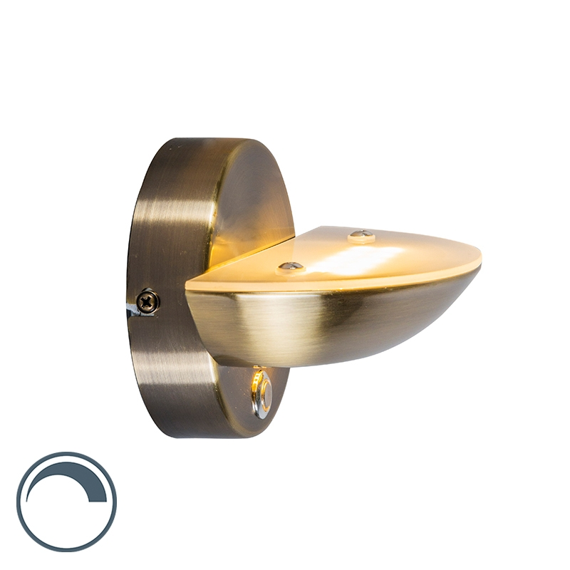 Wandlamp Plato brons   QAZQA   8718881040467