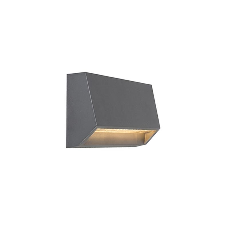 Wandlamp Sandstone 2 donkergrijs | QAZQA | 8718881043062