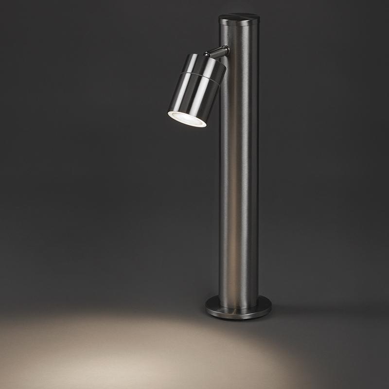 Buitenlamp Solo RVS verstelbaar 45 | QAZQA | 8718881057670