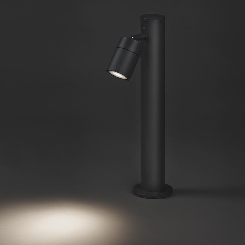 Buitenlamp Solo donker grijs verstelbaar 45 | QAZQA | 8718881057595