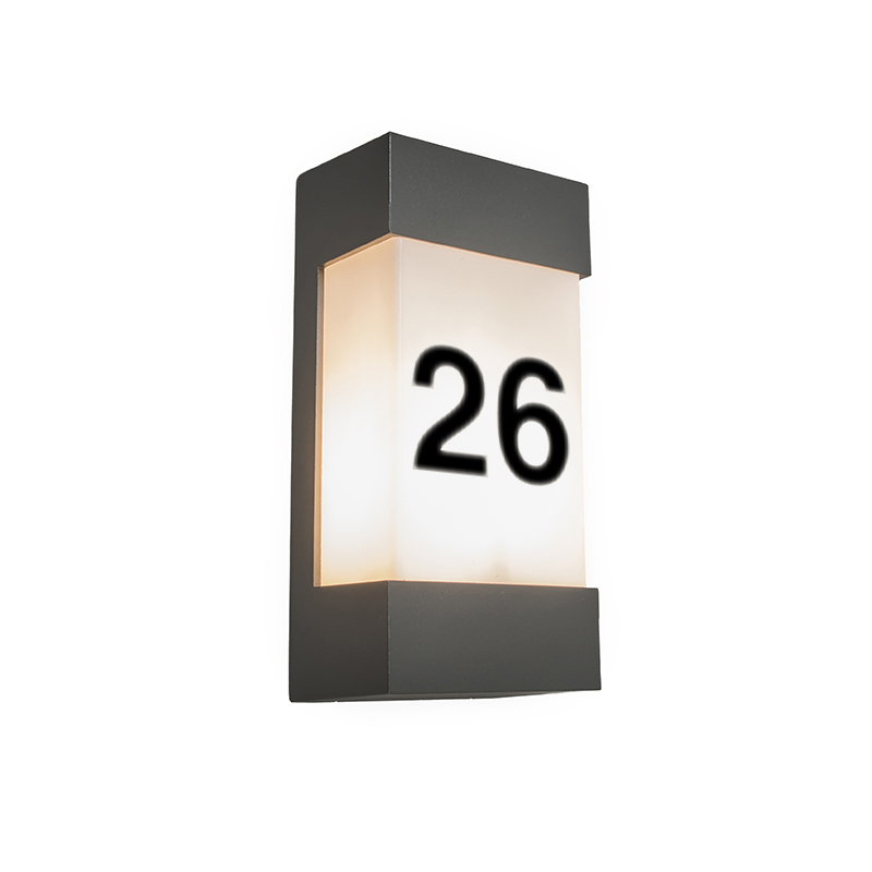 Buitenlamp Tide V met huisnummer | QAZQA | 8718881036941