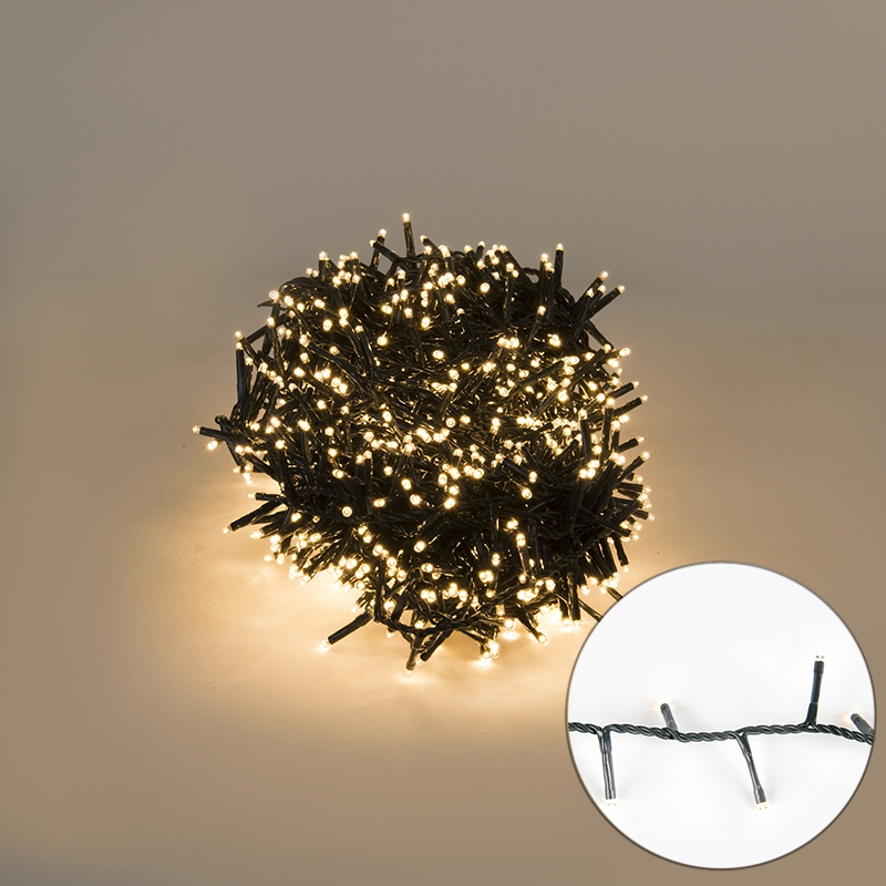 Feestverlichting buiten lichtsnoer knopjes 1000 warm wit LED 22,5m | Kaemingk | 8718533402452
