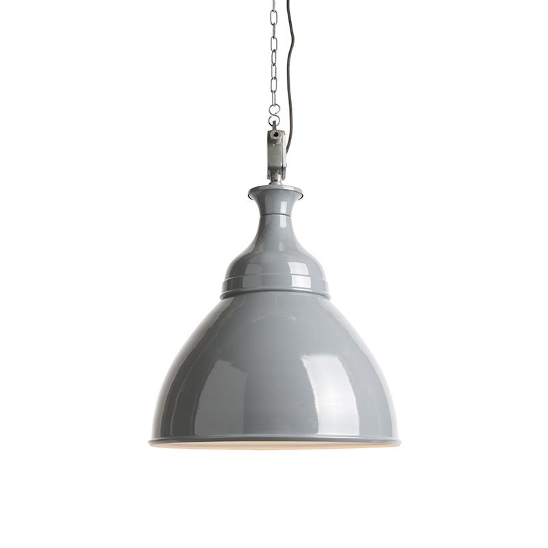 Hanglamp Bob grijs met wit   QAZQA   8718881067020