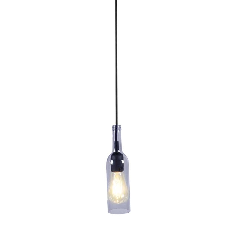 Hanglamp Bottle blauw | QAZQA | 8718881049804