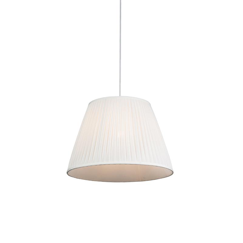 Hanglamp Plisse 45cm wit   QAZQA   8718881071768