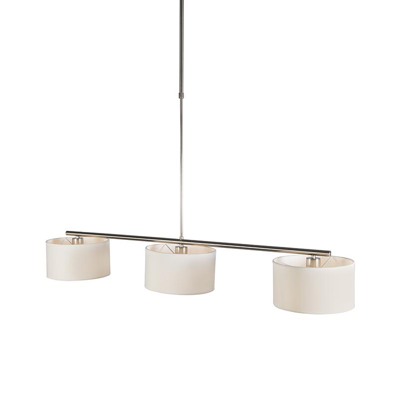 Hanglamp VT 3 rond wit | QAZQA | 8718881052835