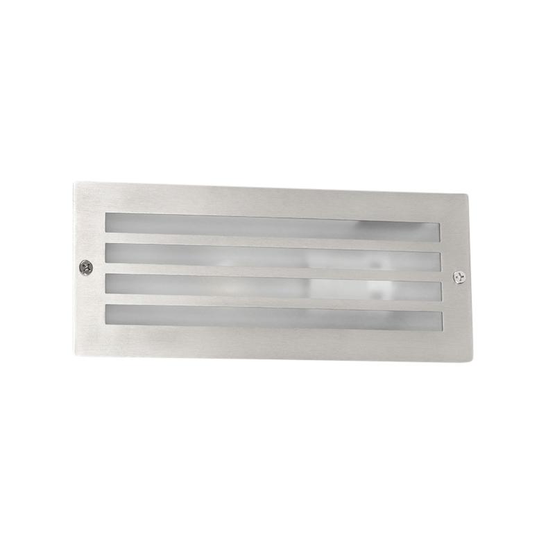 Inbouwlamp Hurricane staal | QAZQA | 8718881057700
