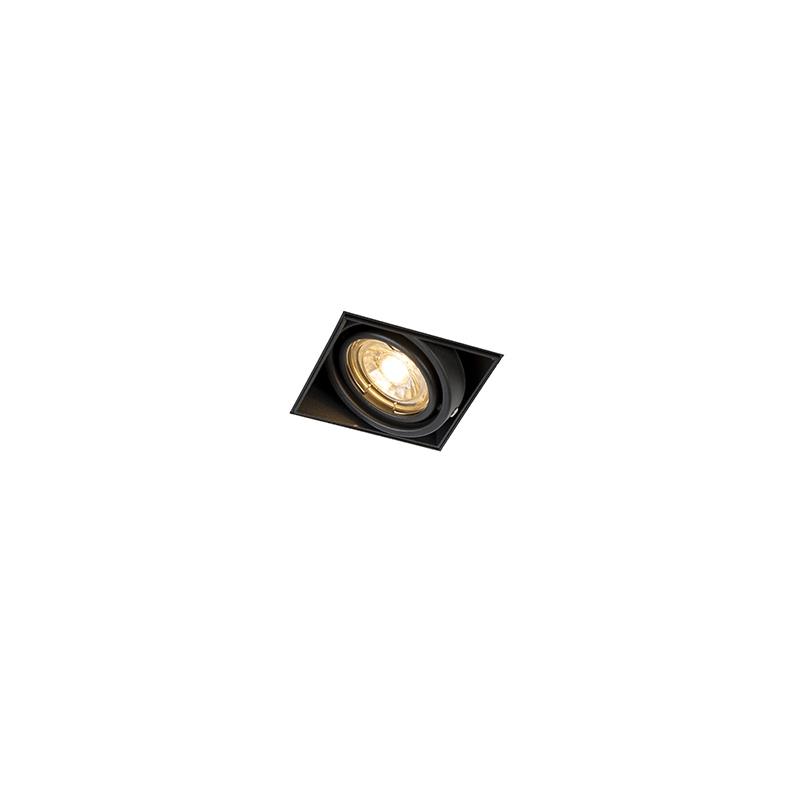 Inbouwspot Oneon 1 GU10 Trimless zwart | QAZQA | 8718881060021