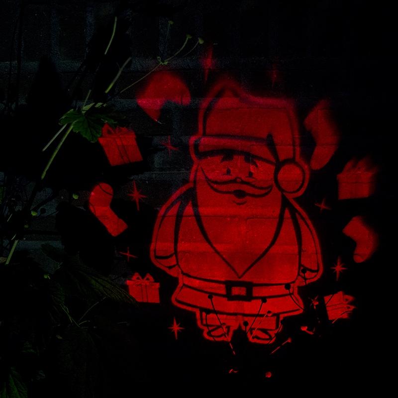 Kerstverlichting Laser projector rood Kerstman   Kaemingk   8719152355402