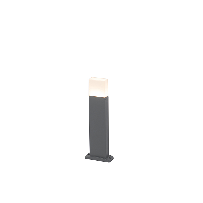 Moderne buitenlamp donker grijs 45cm incl. LED – Malia   QAZQA   8718881070716