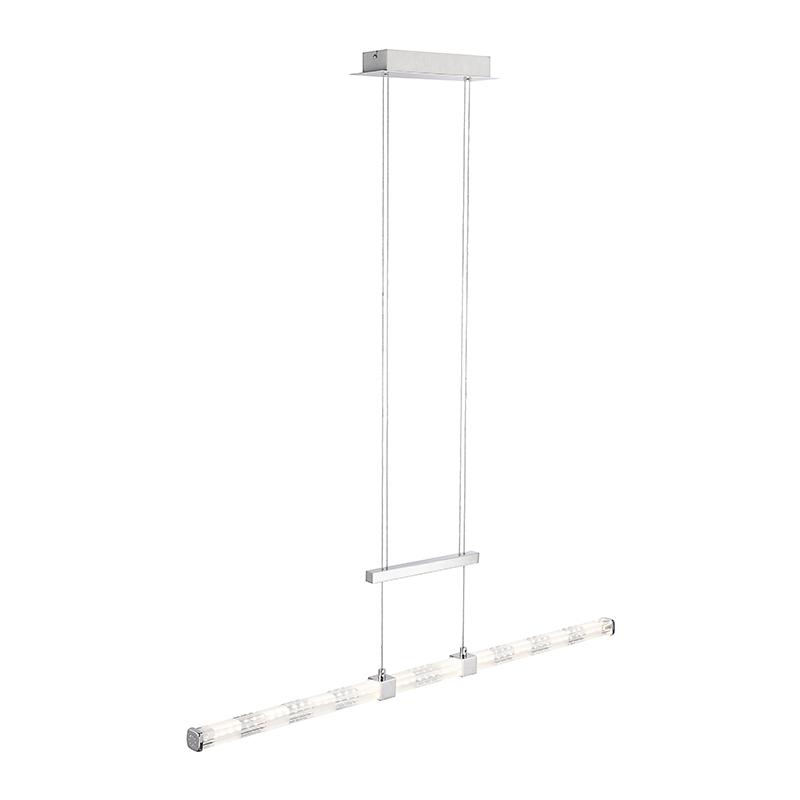 Moderne rechte hanglamp chroom incl. LED – Kanika | Kaemingk | 4043689921279