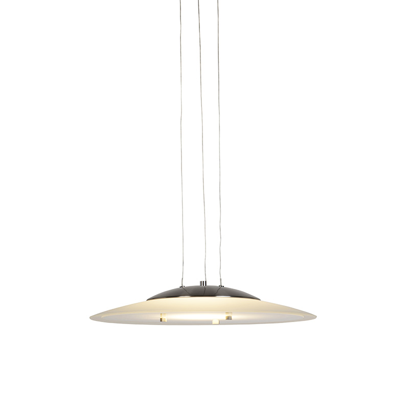 Moderne ronde hanglamp staal incl. LED – Tags | Trio Leuchten | 4017807267679