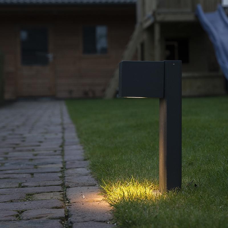 Moderne staande buitenlamp donkergrijs 30cm geschikt voor GU10 – Baleno | QAZQA | 8718881049996