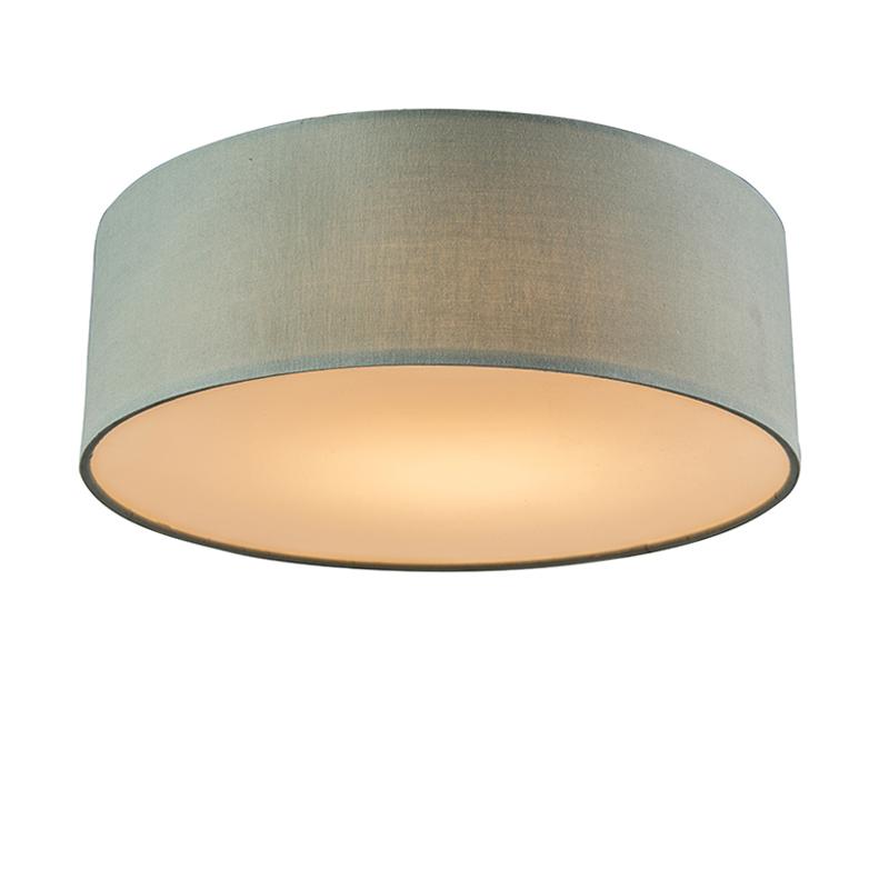 Plafonniere Drum LED 30 groen   QAZQA   8718881057038