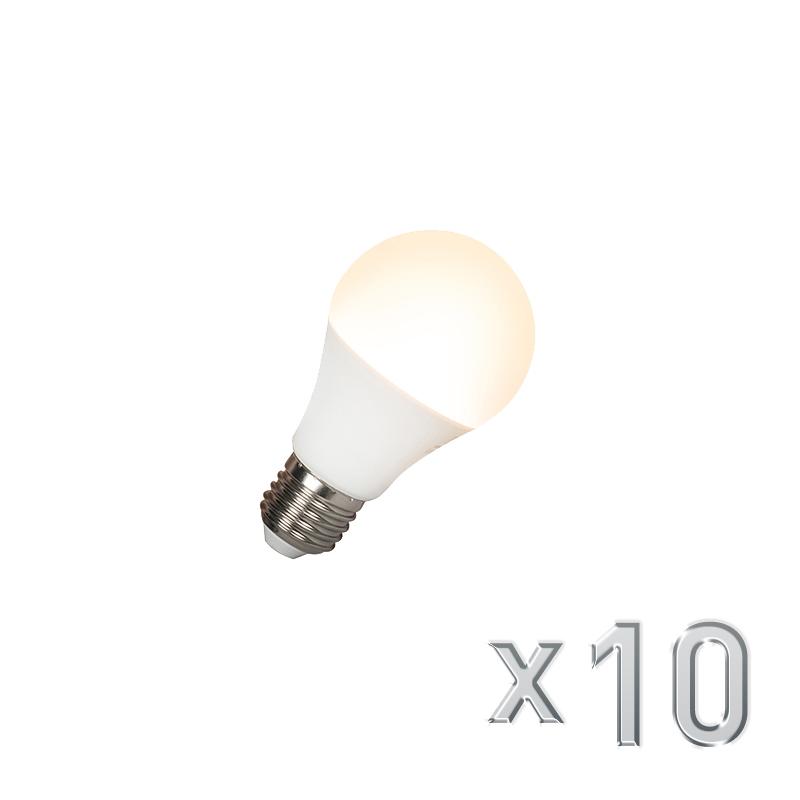 Set van 10 LED lamp E27 240V 7W 510lm A60 dimbaar   Calex   8718881065477