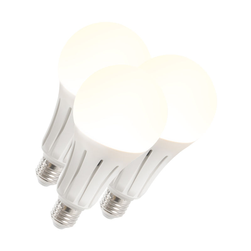 Set van 3 LED lamp B60 18W E27 warmwit | QAZQA | 8718881073106