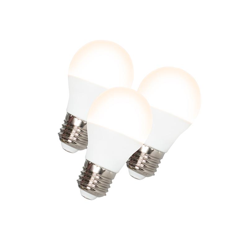 Set van 3 LED lamp G45 E27 5W 3000K   QAZQA   8718881062001