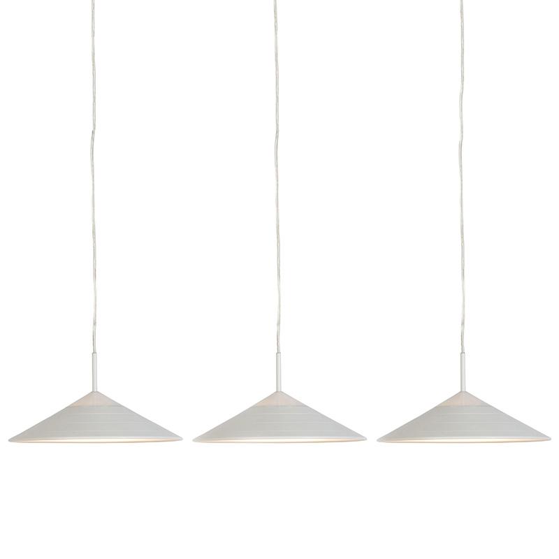 Set van 3 moderne hanglampen wit incl. LED – Lupos | Reality | 8718881084768