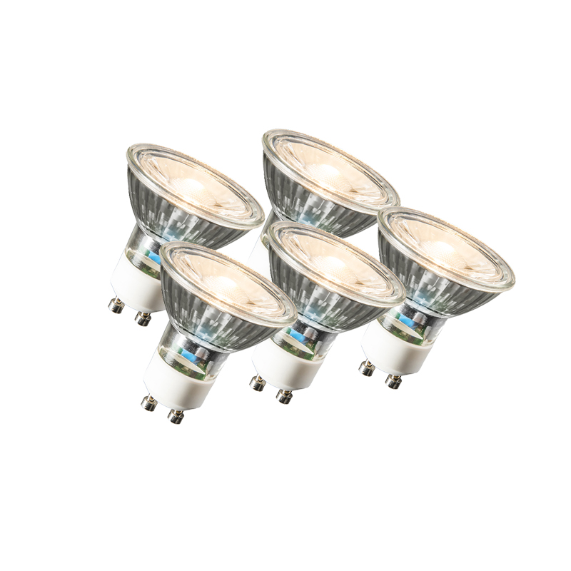 Set van 5 GU10 LED lamp COB 3W 230LM 2700K | LUEDD | 8718881074257