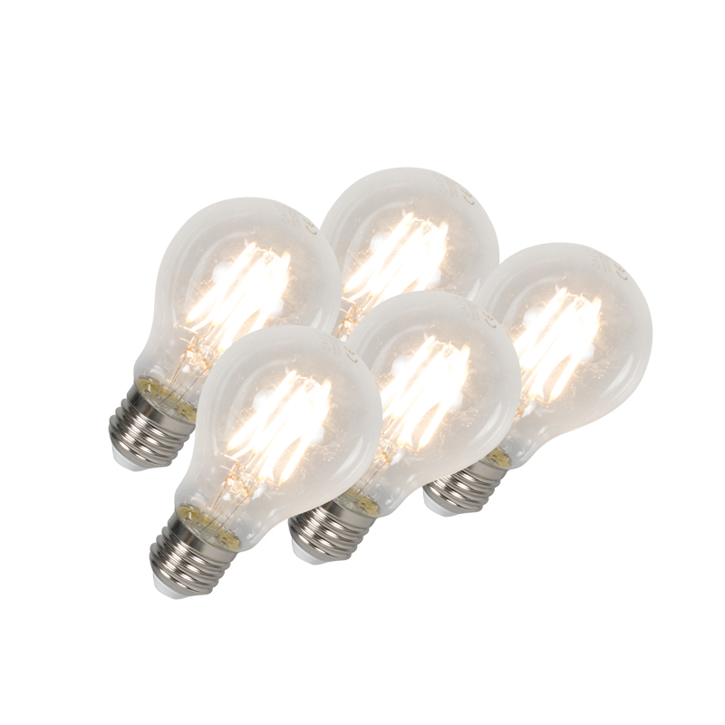 Set van 5 LED lamp E27 4W 400 lumen warm wit | QAZQA | 8718881073151