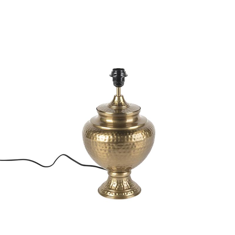 Vintage tafellamp goud zonder kap – Hazard A | QAZQA | 8718881070587