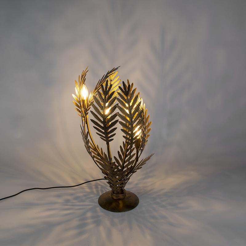Vintage tafellamp large goud – Botanica | QAZQA | 8718881086786