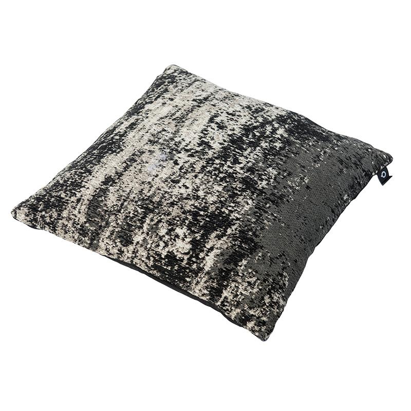 Vintage vierkant kussen zwart/beige 45 x 45cm – Kochi   QAZQA   8718881069246