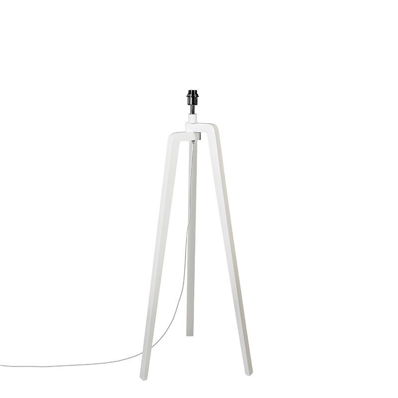 Vloerlamp Puros wit zonder kap | QAZQA | 8718881033988