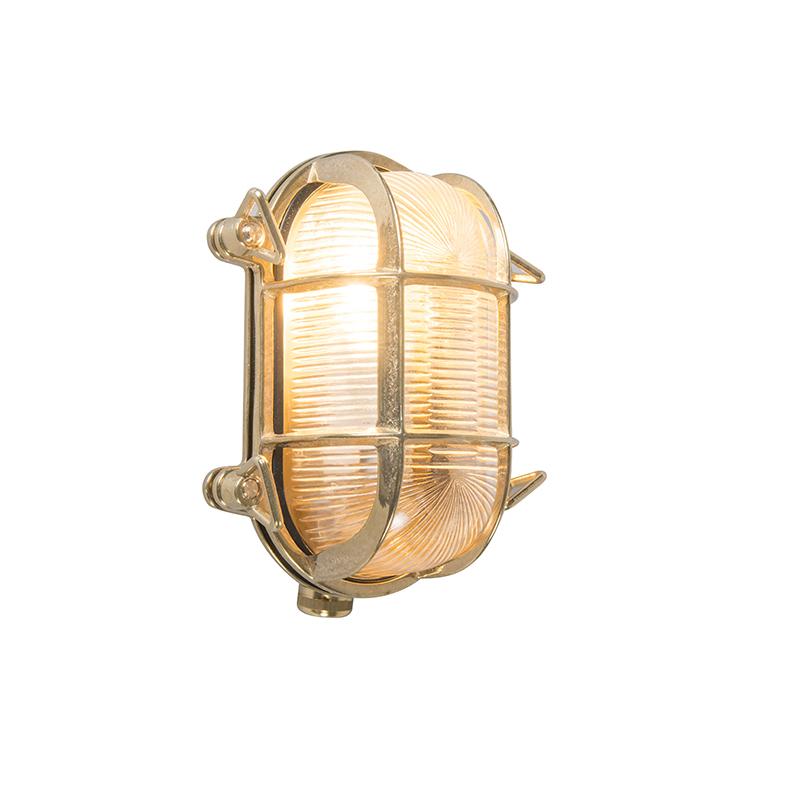 Wand- en plafondlamp Nautica 2 ovaal goud | QAZQA | 8718881038266