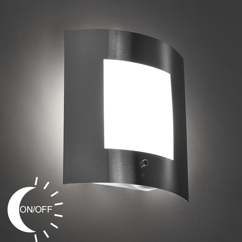 Wandlamp Emmerald 1 staal licht-donker sensor | QAZQA | 8718881057427