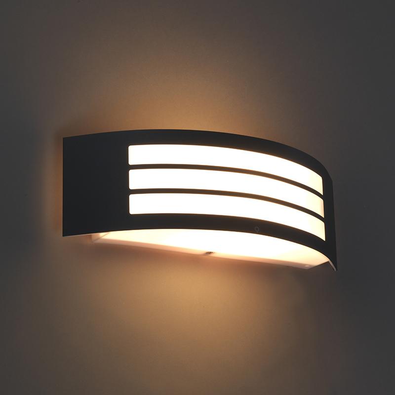 Wandlamp Sapphire Deluxe donker grijs | QAZQA | 8718881057694