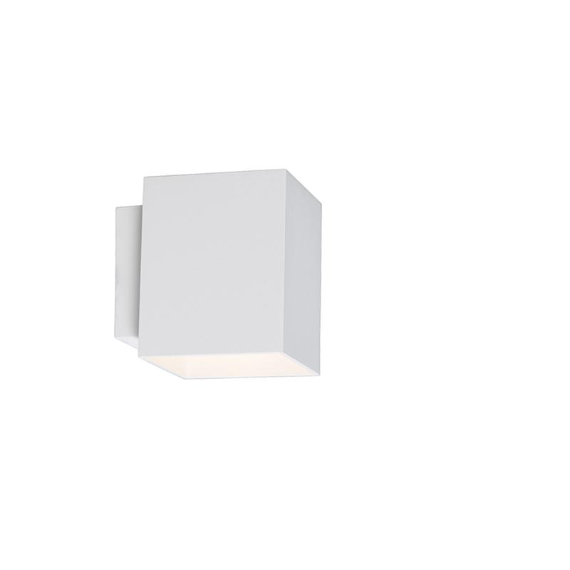 Wandlamp Sola vierkant wit   QAZQA   8718881031403