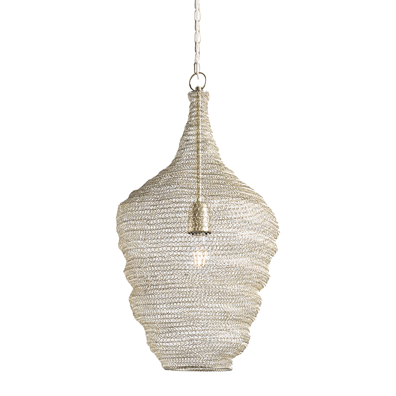 Hanglamp Nidum rond messing   QAZQA   8718881066641