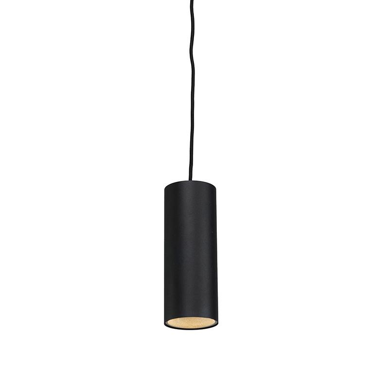 Hanglamp tubo 1 zwart | QAZQA | 8718881027987