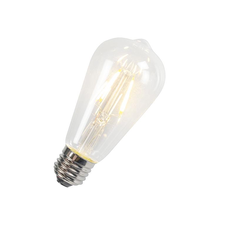 LED filament lamp ST64 4W 2700K helder | LUEDD | 8718881043284