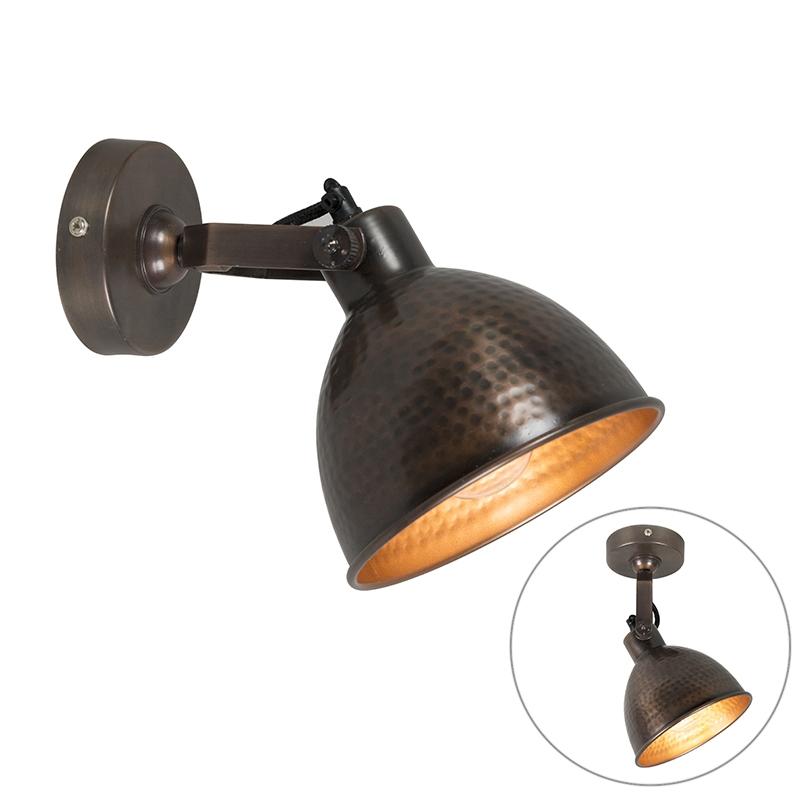 Landelijke wandlamp koper – Liko | QAZQA | 8718881052026