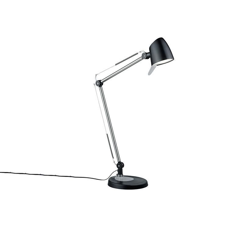 Moderne tafellamp staal met zwart incl. LED – Marie | QAZQA | 4017807372311