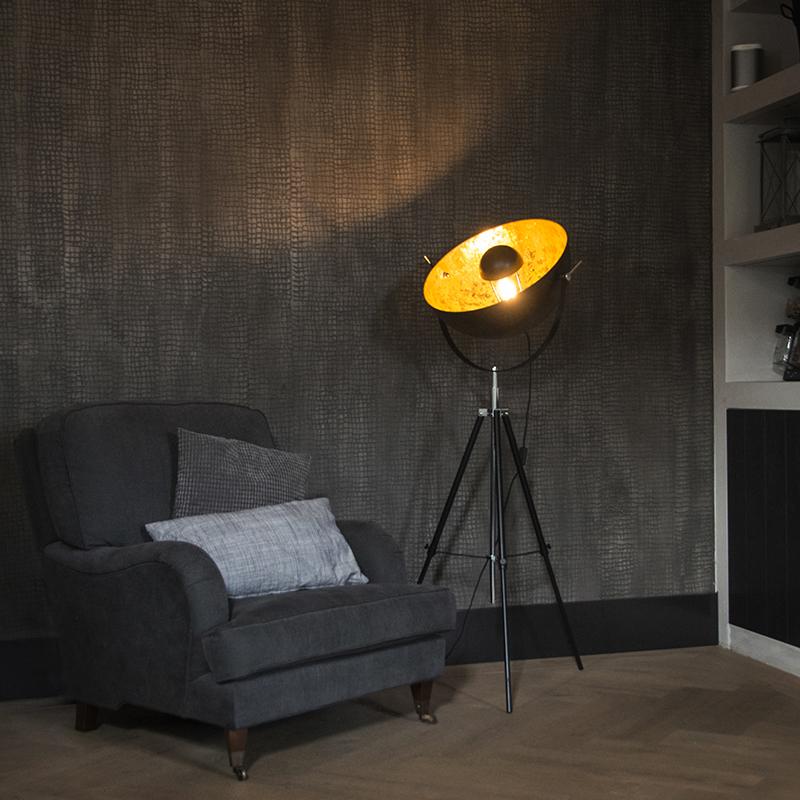 Vloerlamp Magna 50 mat zwart | QAZQA | 8718881053764