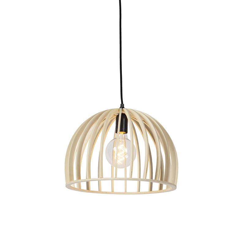 Art deco ronde hanglamp hout 35cm – Twain   QAZQA   8718881087615