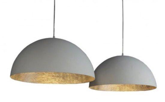 Hanglamp Mat Wit & Antiek Zilver 70cm |  | 7081266289876