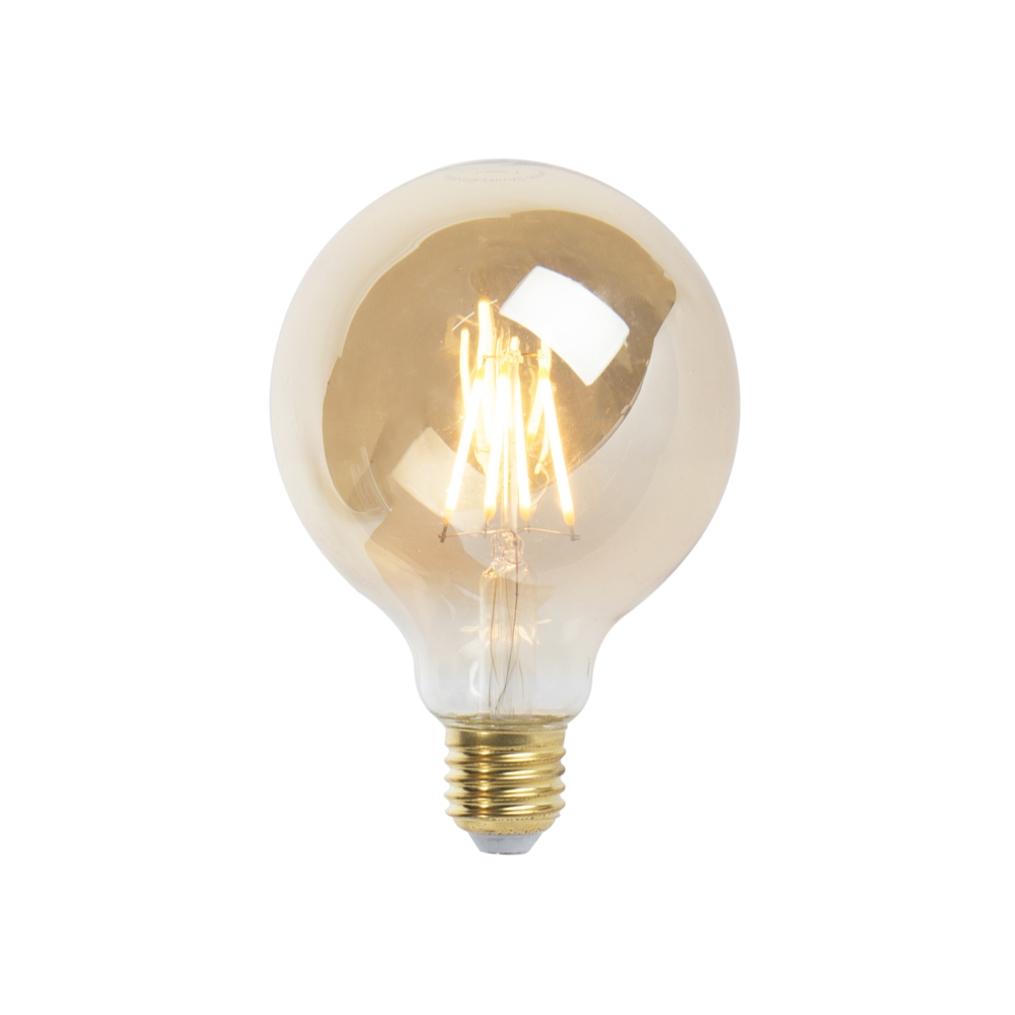 LED Goldline filament lamp E27 5W 360lm G95 dimbaar   LUEDD   8718881068546