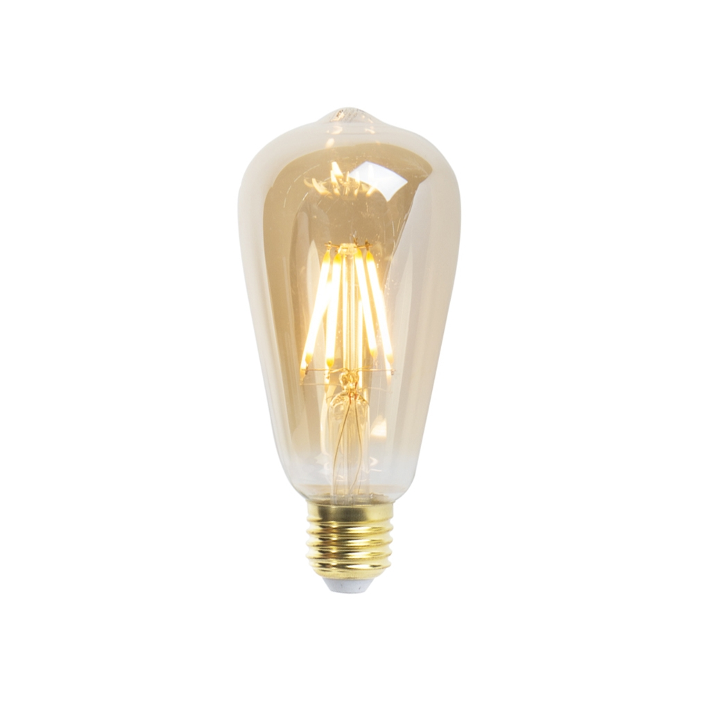 LED Goldline filament lamp E27 5W 360lm ST64 dimbaar | LUEDD | 8718881068539