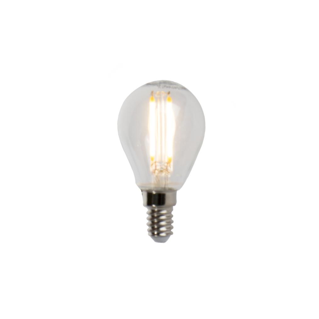 LED filament kogellamp E14 5W 470lm P45 dimbaar   LUEDD   8718881068478
