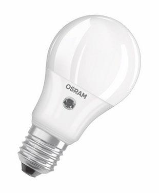 Osram Parathom Classic E27 A 5.2W 827 Mat   met Sensor – Extra Warm Wit – Vervangt 40W   Osram   4058075100732